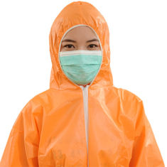 SMS SMMS Disposable Safety Coveralls , Disposable Orange Overalls Waterproof