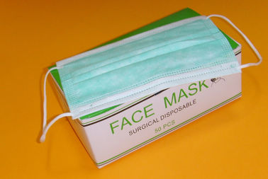 Custom Green Nurse Face Mask , Disposable Medical Face Masks Eco Friendly