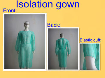 Round Neck Sterile Surgical Gowns , Hospital Isolation Gowns Medical Product