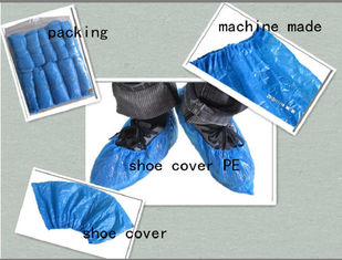 PE CPE PP Non Slip Disposable Shoe Covers Blue Rainproof 1.5G~7G Weight